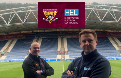 Huddersfield Electrical Contractors continue their Giants support